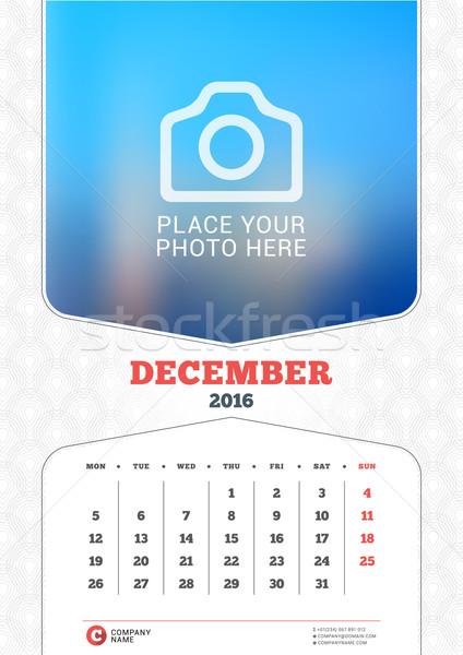 декабрь 2016 стены ежемесячно календаря год Сток-фото © mikhailmorosin