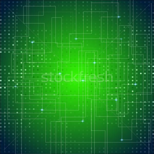 Stock fotó: Nyáklap · textúra · zöld · absztrakt · vektor · fény
