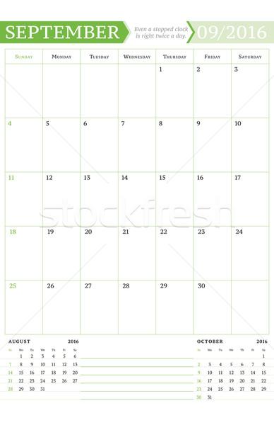 2016 mensile calendario anno vettore Foto d'archivio © mikhailmorosin