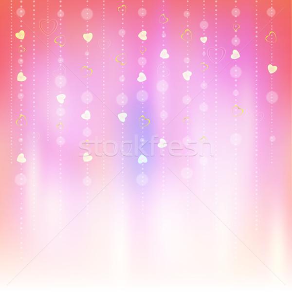 Valentin nap absztrakt romantikus üdvözlet kártyák terv Stock fotó © mikhailmorosin