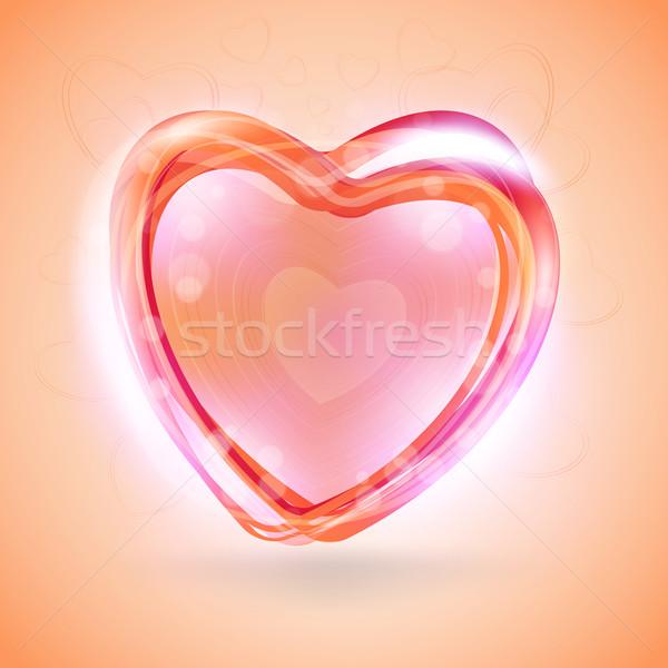 Foto stock: Dia · dos · namorados · abstrato · romântico · saudação · cartões · projeto