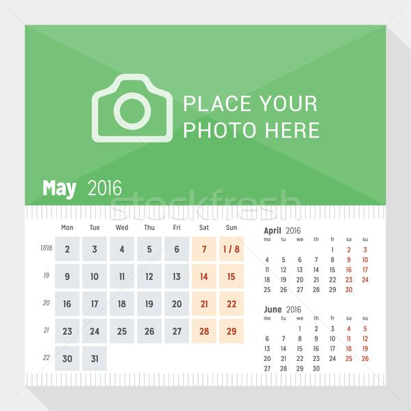 2016 столе календаря год неделя месяцев Сток-фото © mikhailmorosin