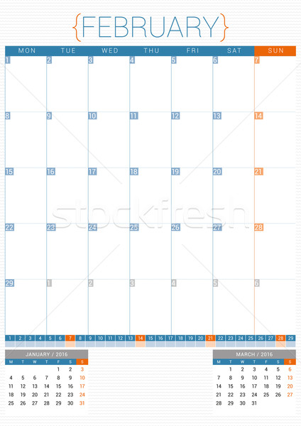 Calendrier planificateur 2016 modèle de conception semaine papier Photo stock © mikhailmorosin