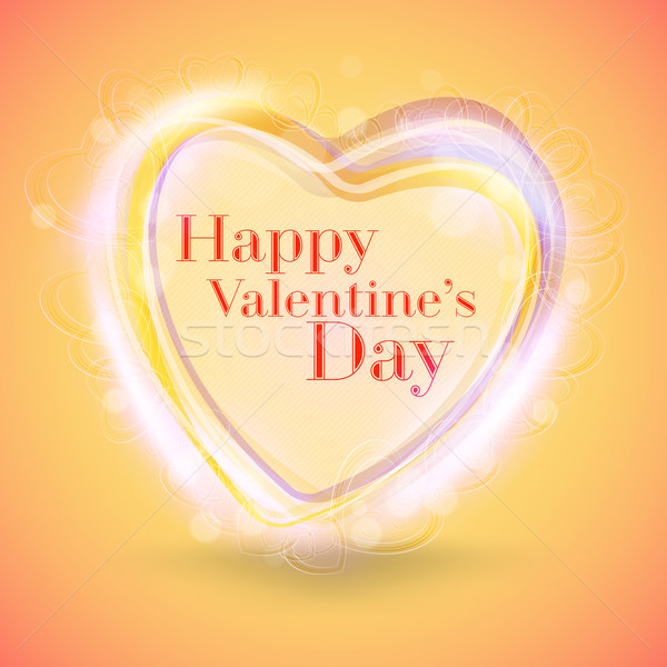Valentines Day Abstract Background. Romantic Vector Illustration for Greeting Cards Design. Happy Va Stock photo © mikhailmorosin