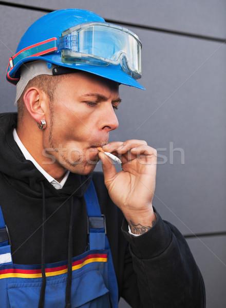 Smoking worker Stock photo © MikLav