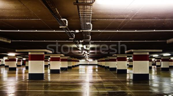 Empty underground parking Stock photo © MikLav