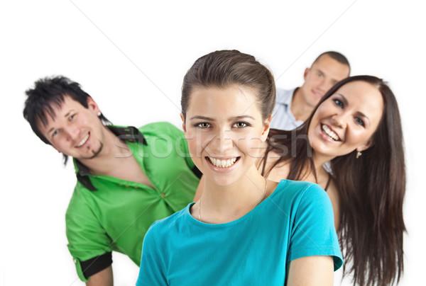 若者 4 笑みを浮かべて 立って 後ろ ストックフォト © MikLav