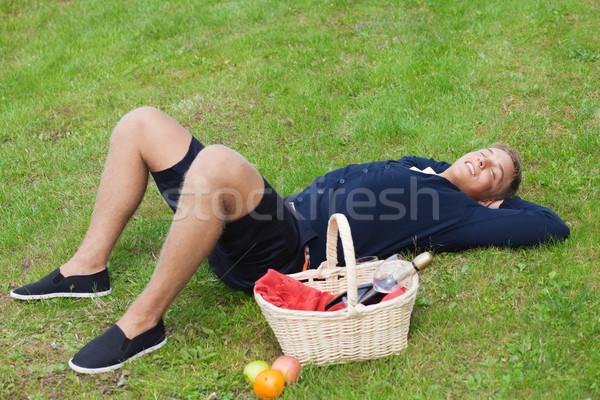 Man on picnic Stock photo © MikLav