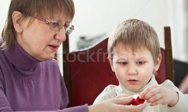 Сток-фото: бабушка · внук · играет · домой · семьи · ребенка