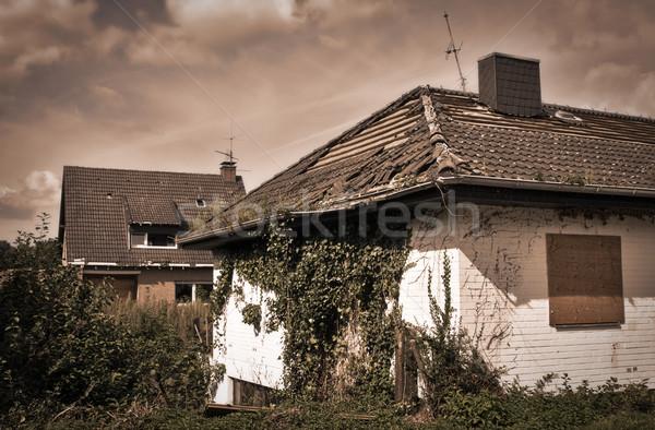 Ciudad muerta Alemania abierto minería destrucción Foto stock © MikLav