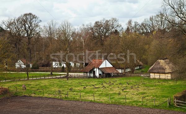 Flemish village Stock photo © MikLav