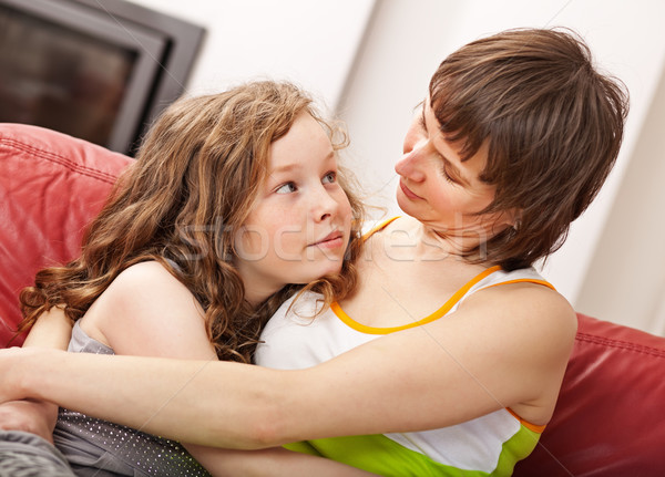Mother and her daugther Stock photo © MikLav
