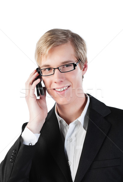 Young man with cellphone Stock photo © MikLav
