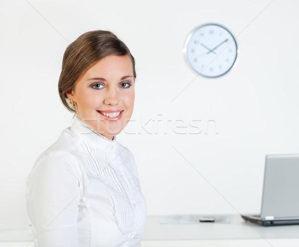 ビジネス 午前 小さな かなり 笑みを浮かべて 女性実業家 ストックフォト © MikLav
