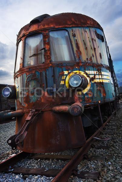 Vieux locomotive brisé rouillée Photo stock © MikLav