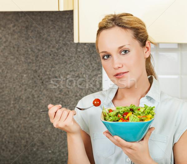 Салат довольно Постоянный кухне Сток-фото © MikLav