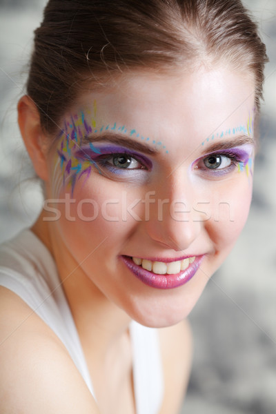 Smiling young woman Stock photo © MikLav