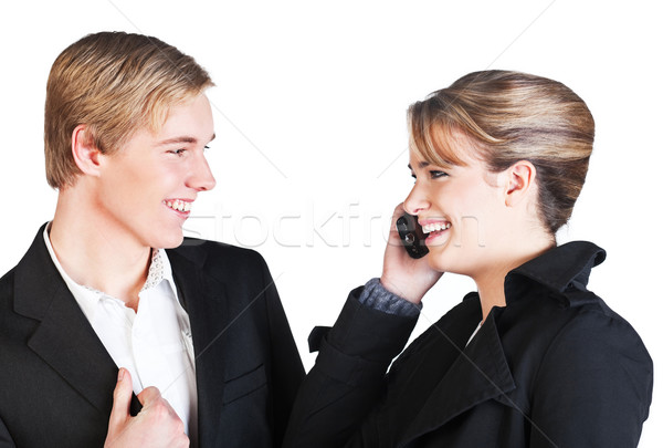 Two smiling people  Stock photo © MikLav