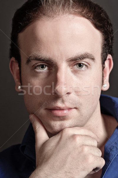Portrait of young man Stock photo © MikLav