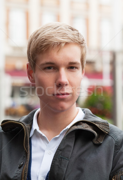 Stock photo: Handsome young blond man