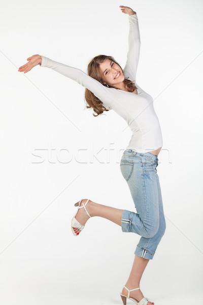 Pleayful teenager girl Stock photo © MikLav