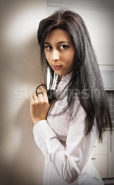 Pretty young woman Stock photo © MikLav