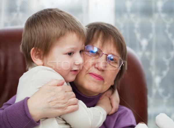 Сток-фото: внук · бабушки · мало · мальчика · женщину