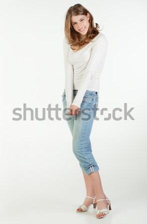 Smiling teenager girl Stock photo © MikLav