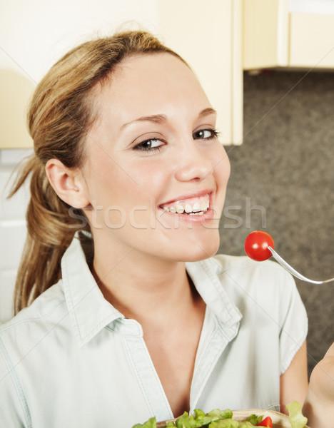 счастливым Салат довольно улыбаясь Постоянный Сток-фото © MikLav