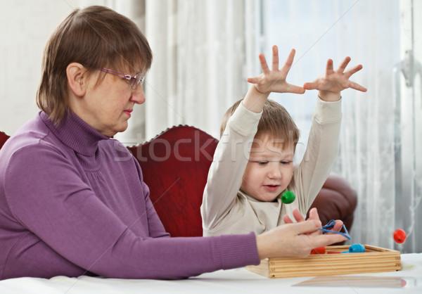 Granny and grandson Stock photo © MikLav