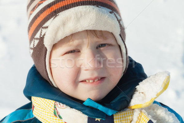 Portrait of boy in winter cloths outdoors Stock photo © MikLav