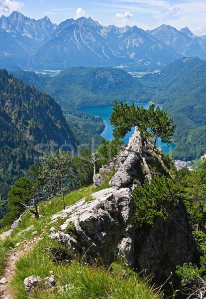 風景 表示 ドイツ 夏 雲 青 ストックフォト © MikLav