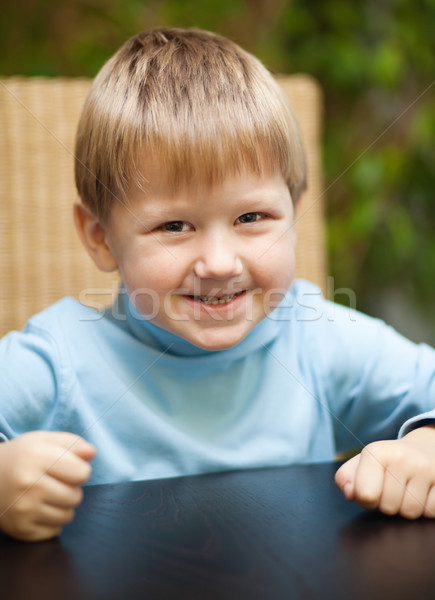 Little boy with roguish smile Stock photo © MikLav