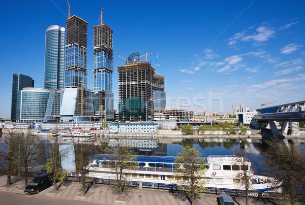モスクワ 国際ビジネス センター 市 空 建物 ストックフォト © MikLav