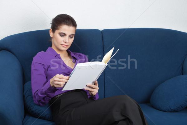 待合室 小さな かなり 女性実業家 座って ソファ ストックフォト © MikLav