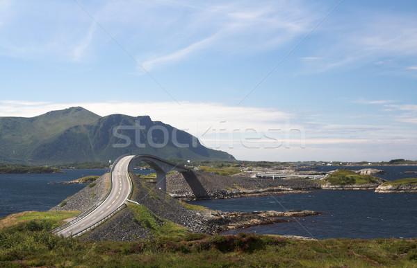 út Norvégia égbolt tenger nyár óceán Stock fotó © MikLav