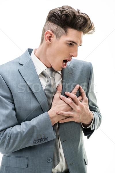 бизнесмен груди более портрет сердечный приступ Сток-фото © MilanMarkovic78