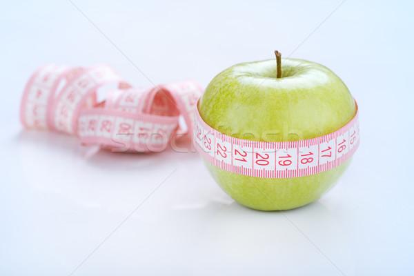 Здоровый образ жизни зеленый яблоко вокруг фрукты Сток-фото © MilanMarkovic78