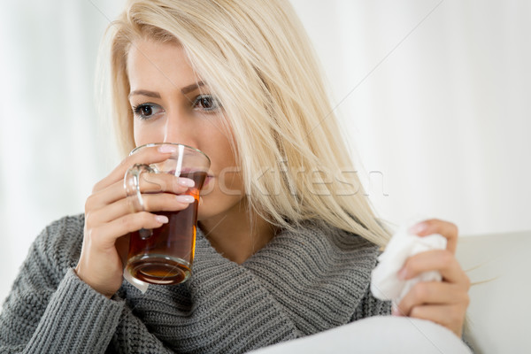Girl With Cold Stock photo © MilanMarkovic78