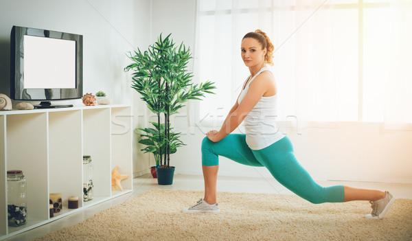 Fitness At Home Stock photo © MilanMarkovic78