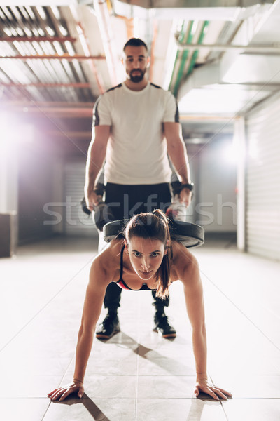Couple At The Cross Training Stock photo © MilanMarkovic78