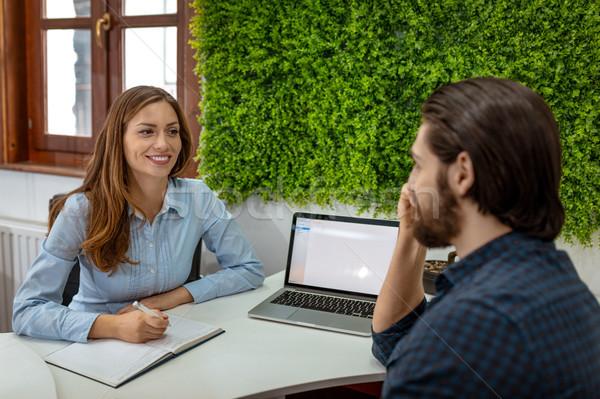 интервью работу молодым человеком данные бизнеса Сток-фото © MilanMarkovic78