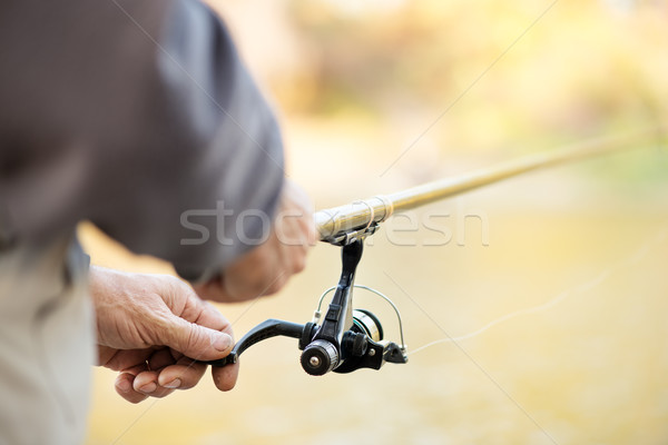 Fishing Rod And Reel Stock photo © MilanMarkovic78