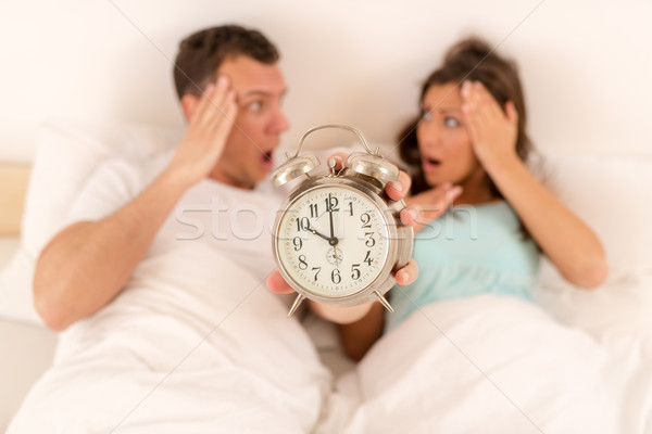 Oversleeping Waking Up Stock photo © MilanMarkovic78