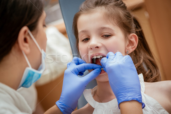 Little Girl At The Dentist Stock photo © MilanMarkovic78