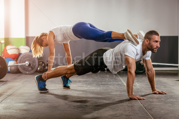 Couple In The Cross Training Stock photo © MilanMarkovic78