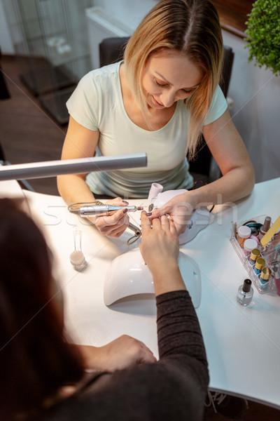 Törődés kezek körmök női ügyfelek szög Stock fotó © MilanMarkovic78
