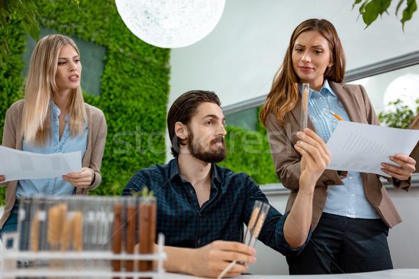 Első osztály búza egyetem kollégák minőség minta Stock fotó © MilanMarkovic78