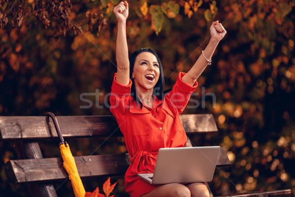 Celebrating Job Goals Stock photo © MilanMarkovic78