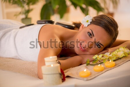 Woman Relaxing At The Spa Center Stock photo © MilanMarkovic78